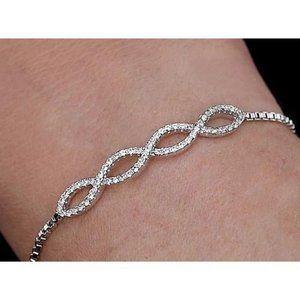 Ladies Diamond Bracelet 4 Carats Jewelry New